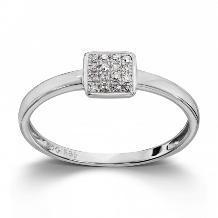 MG Diamonds - Ring, hvitt gull med diamant