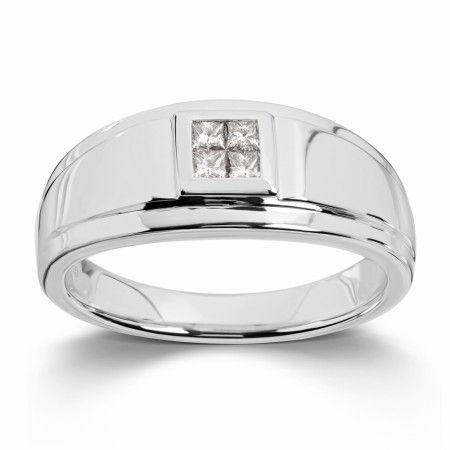 MG Diamonds - Ring, hvittgull med diamanter