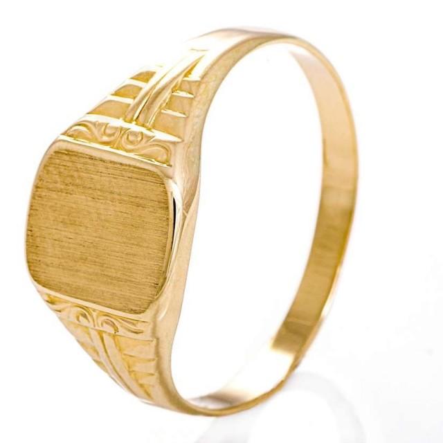 407f0b83 Espeland - Signetring, gult gull | Gullsmed Finn Andersen AS